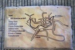 Mappa di Punxsutawney, Pensilvania Fotografie Stock