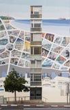 Mappa di Tel Aviv sulla facciata Immagini Stock