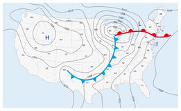 Mappa di tempo immaginaria degli Stati Uniti d'America royalty illustrazione gratis