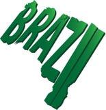 Mappa di testo del Brasile piana Fotografia Stock