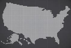 Mappa di U.S.A. Fotografie Stock