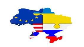 Mappa di Ukraine3 Immagine Stock Libera da Diritti