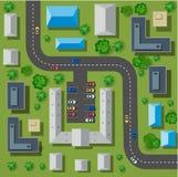 Mappa di una cima Immagine Stock