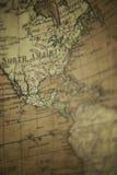 Mappa di vecchio mondo - Nord America Immagini Stock Libere da Diritti