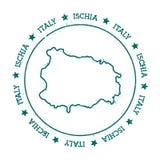 Mappa di vettore degli ischi Fotografia Stock Libera da Diritti
