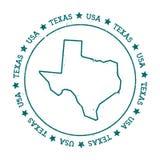 Mappa di vettore del Texas Fotografia Stock