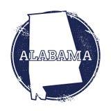 Mappa di vettore dell'Alabama Fotografia Stock Libera da Diritti
