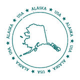 Mappa di vettore dell'Alaska Fotografia Stock Libera da Diritti