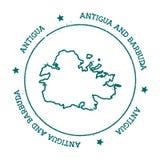 Mappa di vettore dell'Antigua royalty illustrazione gratis