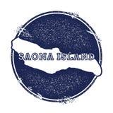Mappa di vettore dell'isola di Saona Fotografia Stock