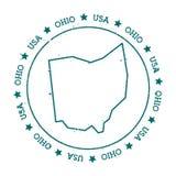 Mappa di vettore dell'Ohio Immagine Stock