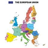 Mappa di vettore dell'Unione Europea Fotografia Stock Libera da Diritti