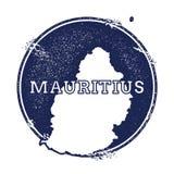 Mappa di vettore delle Mauritius Fotografia Stock