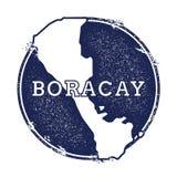 Mappa di vettore di Boracay Fotografia Stock Libera da Diritti