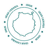 Mappa di vettore di Gran Canaria Fotografia Stock Libera da Diritti