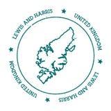 Mappa di vettore di Harris e di Lewis royalty illustrazione gratis