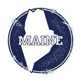 Mappa di vettore di Maine Fotografie Stock