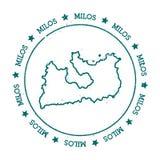 Mappa di vettore di Milo Immagine Stock Libera da Diritti