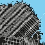 Mappa di vettore di San Francisco Fotografie Stock