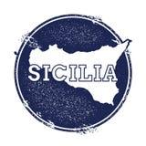 Mappa di vettore di Sicilia Immagine Stock Libera da Diritti