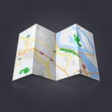Mappa di viaggio Fotografia Stock Libera da Diritti