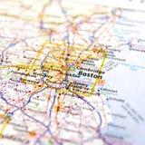 Mappa di viaggio di Massachusetts Immagini Stock