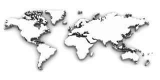 Mappa di Worl Fotografia Stock
