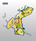 Mappa di zonizzazione della città Immagine Stock Libera da Diritti