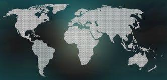 Mappa digitale del mondo illustrazione di stock