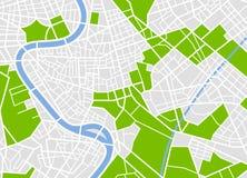 Mappa europea generica della città Fotografie Stock Libere da Diritti