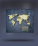 Mappa futuristica del mondo Illustrazione Vettoriale