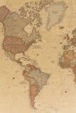 Mappa geografica antica le Americhe Immagini Stock Libere da Diritti