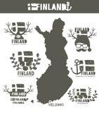 Mappa geografica creativa della Finlandia - scandinavo Immagine Stock Libera da Diritti