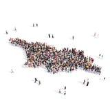 Mappa Georgia di forma del gruppo della gente Fotografia Stock Libera da Diritti