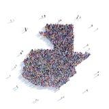 Mappa Guatemala di forma del gruppo della gente Fotografia Stock