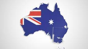 Mappa HD dell'Australia royalty illustrazione gratis