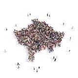 Mappa il Kosovo di forma del gruppo della gente Immagine Stock Libera da Diritti