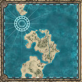 Mappa incorniciata oggetto d'antiquariato Immagini Stock Libere da Diritti