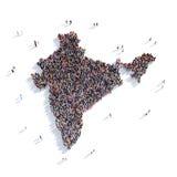 Mappa India di forma del gruppo della gente Fotografia Stock