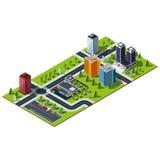 Mappa isometrica della città Fotografie Stock