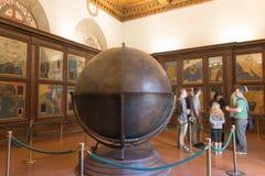 Mappa Mundi w Hall geographical mapy w Palazzo Vecchio, Florencja, Tuscany, Włochy Obraz Stock