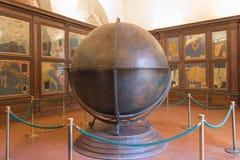 Mappa Mundi w Hall geographical mapy w Palazzo Vecchio, Florencja, Tuscany, Włochy Zdjęcia Stock