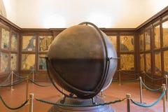 Mappa Mundi w Hall geographical mapy w Palazzo Vecchio, Florencja, Tuscany, Włochy Zdjęcia Royalty Free