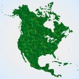 Mappa Nord America da erba Fotografia Stock