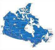 Mappa politica del Canada Fotografia Stock Libera da Diritti