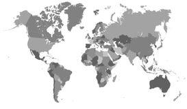Mappa politica del mondo Fotografia Stock Libera da Diritti