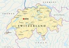Mappa politica della Svizzera royalty illustrazione gratis