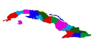 Mappa politica di Cuba illustrazione vettoriale