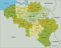 Mappa politica editabile altamente dettagliata con gli strati separati belgium royalty illustrazione gratis