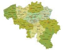 Mappa politica editabile altamente dettagliata con gli strati separati belgium illustrazione vettoriale